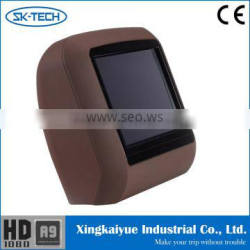 Headrest Touch Screen LCD headrest Monitor with dual-core android 4.2.2 operating system