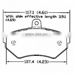 D704 OE 1HM 698 151 fronts for Seat VW auto brake pad