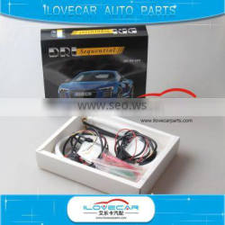 Sequential DRL runing signal lamp LED DRL bend strip used for car headlamp retrofit dynamic DRL