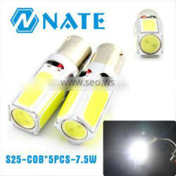2014 Wholesale and Superbright S25-COB*5PCS-7.5W cob car led light turn light