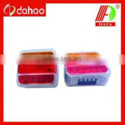12-24V square waterproof LED trailer tail light (E-MARK)