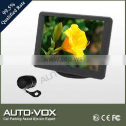 3.5 inch rear view monitor with car camera on dash board