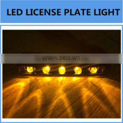 License Plate LED Number Light Lamp 3/4/5 LED Yellow White Red Color