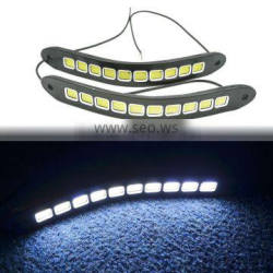 1 Pair Universal Car Styling Fleible Fog Lights 10SMD COB LED DRL Silicone Daytime Running Light Waterproof Light Source