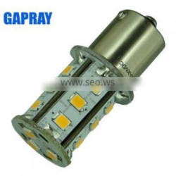 Amber Red White SMD 12V car S25 led bulbs with CE RoHS