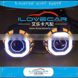 Newest H1 projector lens headlight kit in 2016 with dual COB angle eyes