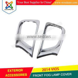 2014 Toyota Yaris Accessories ABS Chrome Front Fog Light Cover Top Products Hot Selling New 2014
