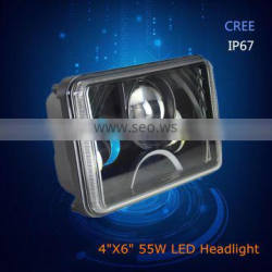 "New arrival with high quality IP67 45W 4""X6"" led headllamp for dodge truck"