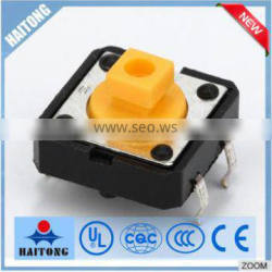 china supplier 250V yellow head appliance switches emergency push button tact switch