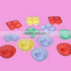 The colorful silicone mould