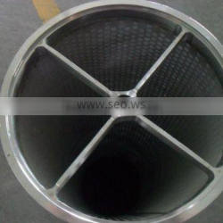 sintered mesh with perforated metal filter