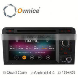 Newest Quad Core Android 4.4 up to android 5.1 for Audi A3 S3 Car DVD GPS player with Wifi BT