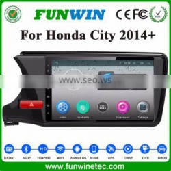 Support 3G/Wifi/Audio/Video Dvd Car Audio System For HONDA CITY 2015 1G Ram 1024*600