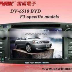 double din in dash 7inch special car dvd for byd f3 with gps bluetooth