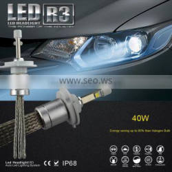 best selling products motorcycle part R3 40W 4800lm car headlight led motorcycle lights