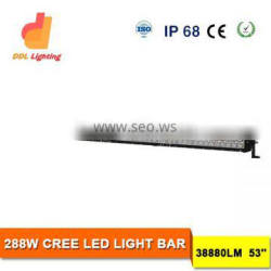 Aluminum 288W Integrate dimming Light strip led light bar offroad bar for car with wholsesale