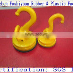 47 58mm vacuum drawing strong super market silicone rubber suction cup sucker with plasticwall bathroom sucker hook