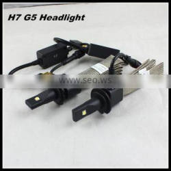 H7 led headlight G5 fanless led headlight 40w 5000lm c ree h7 led bulb single beam car h7 led headlight bulbs