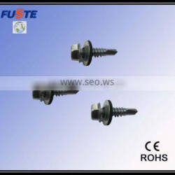 Custom made screw with rubber washer