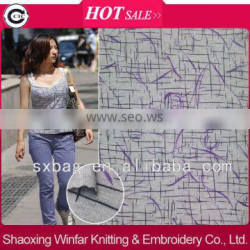 shaoxing winfar polyester knit jersey printed lycra fabric for garment
