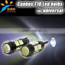 2pcs/lot Car Auto LED T10 5050 W5W 10W SMD 194 168 LED White Car Side Wedge Tail Light Lamp Bulb