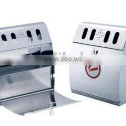 stainless steel wall mounted ashtray/cigarette bin/king set