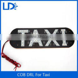 Waterproof 48pcs led car daytime running light car led logo taxi roof signs