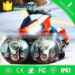 Wholesale 5.75 inch Harley Double led motorcycle headlights 5 3/4 inch Daymaker H13 H4 motorcycle led projector headlights