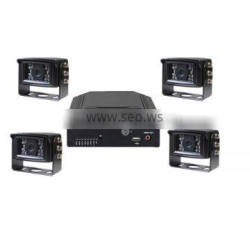 H.264 4ch hdd vehicle car dvr With GPS Tracking and G-sensor function