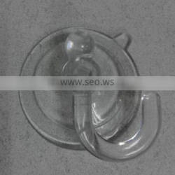 Durable PVC/silicone material glass table suction cups with hook