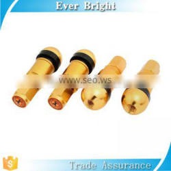 Auto valve vehicles tubeless plug in wheel valve cap Gold Tone 4PCS