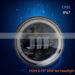 Smart design 50w 5.75'' led headlight for harley motorcycle