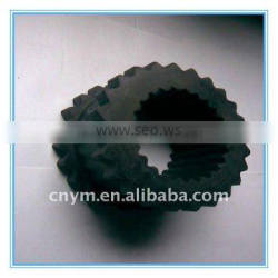 Serrated rubber products