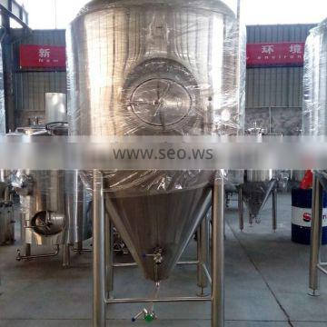 beer brewing system of stainless steel 500 gallon tank