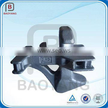 Cast and forged galvanized container lashing and fittings