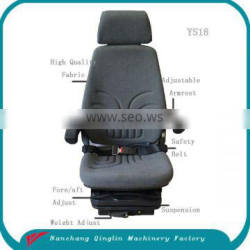 Deluxe mechanical heavy duty construction vehicle seat