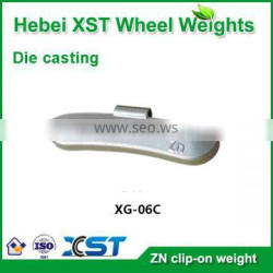 zinc clip on wheel weight for steel rim