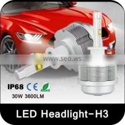 h3 Novel Item car led headlight bulb h3 projector car led headlight bulbs h3 30w 3600 lumen auto car headlight