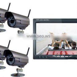 RV-7001-4 Digital Wireless CCTV camera System with Quad Monitor Ideal for recording, home office monitoring