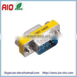 Low Profile Port Saver D-SUB9 Male to D-SUB9 Female Mini Gender Changer Adaptor Connector