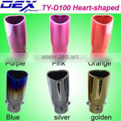 universal heart-shaped muffler exhaust tip