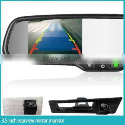 3.5inch oem replacement rearview mirror, automatical reverse camera display compass&temp