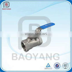 Stainless steel screw port ball valve, water media ball valve