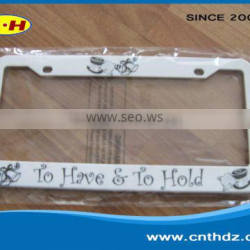 Production of all kinds of plastic products license plate frame
