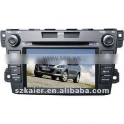 "7"" Car GPS navigation DVD player for 2012 Mazda CX-7 with 8CD,IPOD,BT,TV,and IPHONE menu"