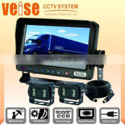 2016 New 7 inch Truck Rear View Camera System with TFT LCD monitor + 4 CCD camera + 15M extension cable For bus