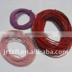 waterproof round leather cord
