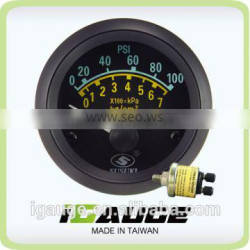 GO520S 2 inches Black color Electric Pressure Oil Gauge