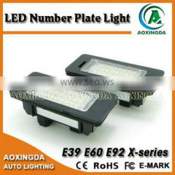Error free high quality led license plate light for E39 E60 E92
