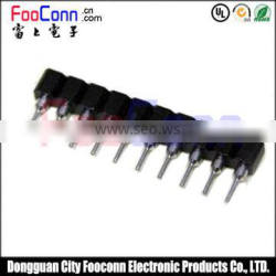 pitch1.778 machine pin female connector straight dip